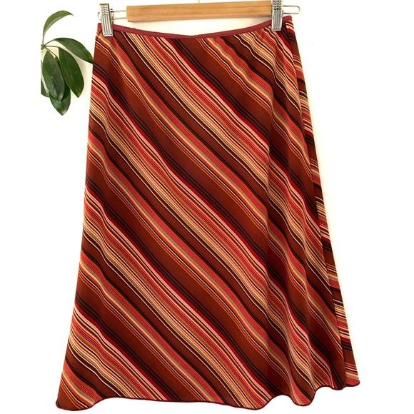 Stripe A Line vintage red orange  striped S…